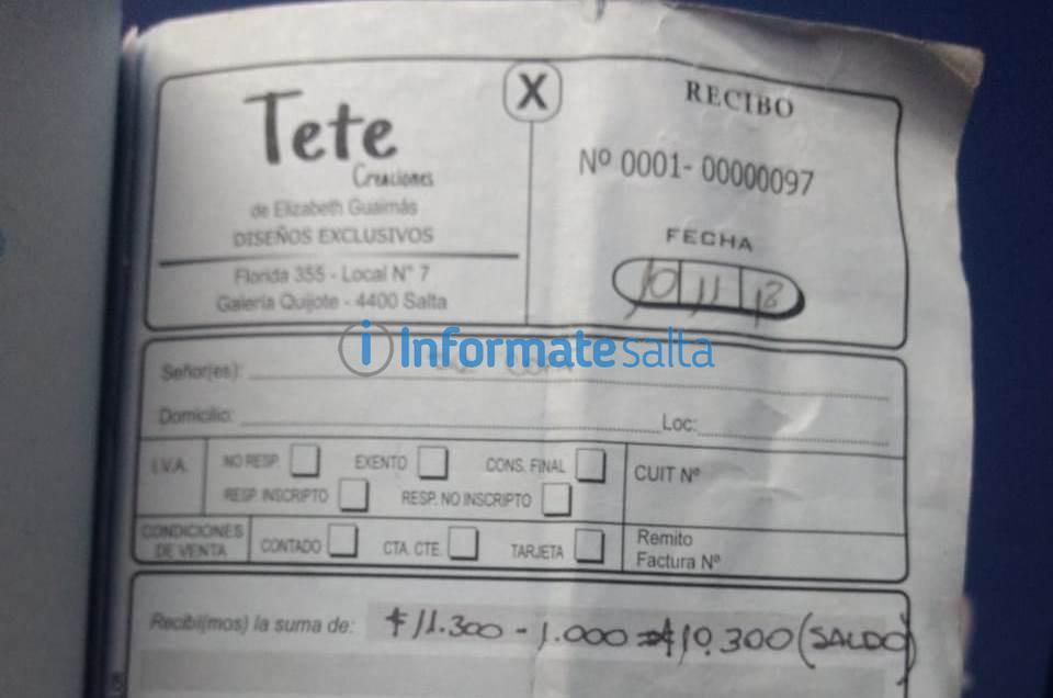 Teté Creaciones aclaró sobre los reclamos de padres de Olacapato