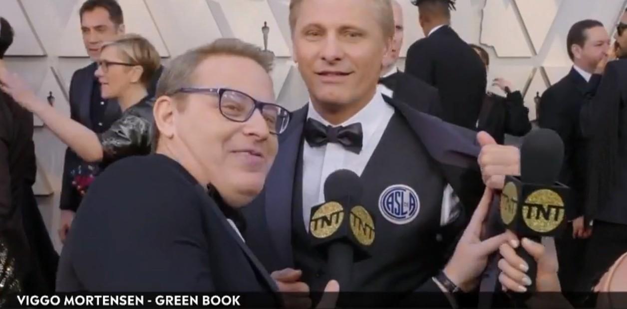 Cuervo hasta la tumba: En la noche de los Oscars, Viggo Mortensen lució un escudo de San Lorenzo