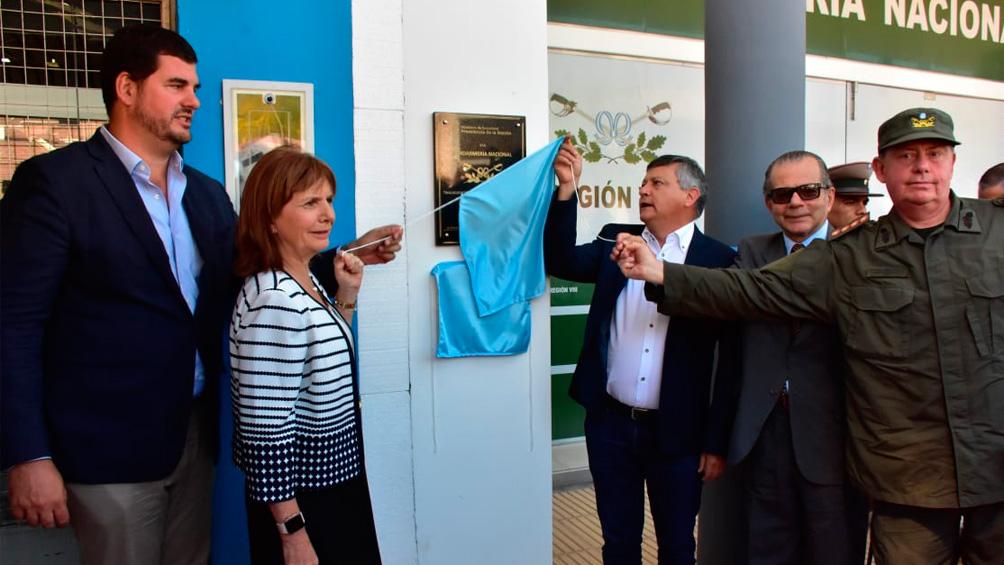 Bullrich y Peppo inauguraron en Presidencia Roque Sáenz Peña sede de Gendarmería Nacional