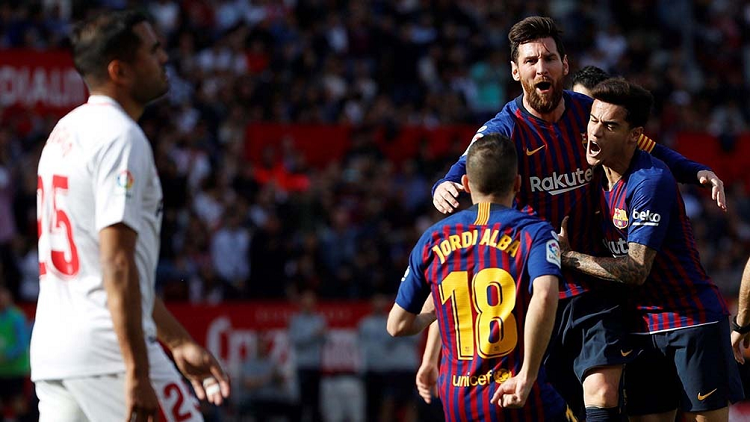 Messi brilló otra vez y le dio la victoria a Barcelona sobre Sevilla